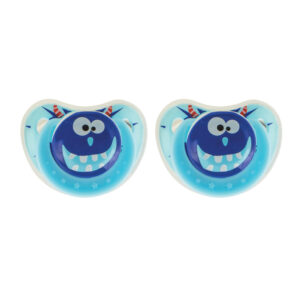 BeeBaby Orthodontic Silicone Baby Pacifier with Protective cap. Pack of 2