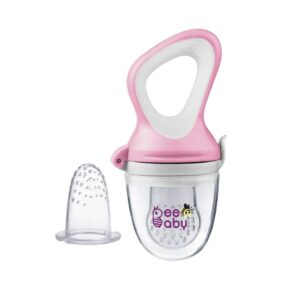 Beebaby Fresh Food & Fruit Silicone Nibbler with Extra Silicone Mesh