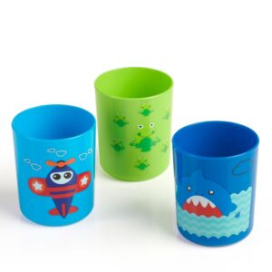 BeeBaby Boo Boo Cups. Pack of 3 (18M+ 250 ML / 8Oz.) – Blue & Green