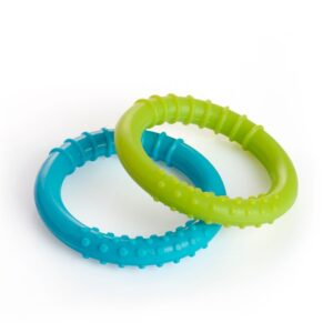 BeeBaby Infant Soft Silicone Loops Teether.Pack of 2