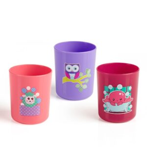 BeeBaby Boo Boo Cups. Pack of 3 (18M+ 250 ML / 8Oz.) – Pink & Violet